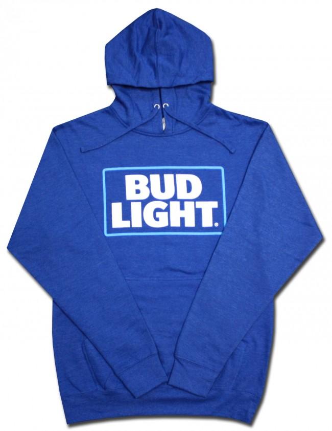 Bud Light Royal Blue Hooded Sweatshirt Boozingear Com