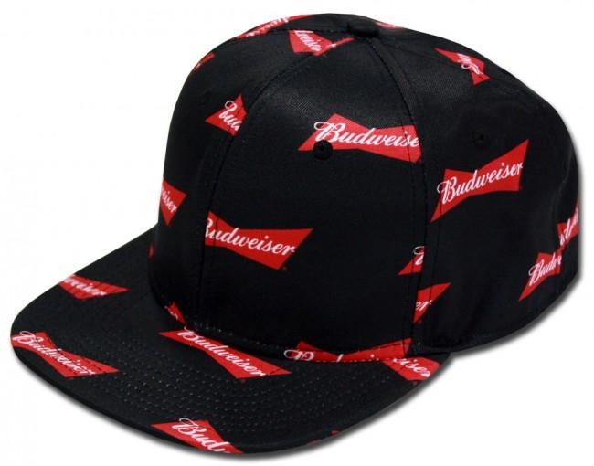 ebd2484d8d5cd Home  Budweiser Bowtie Spread Flatbill Hat. Front
