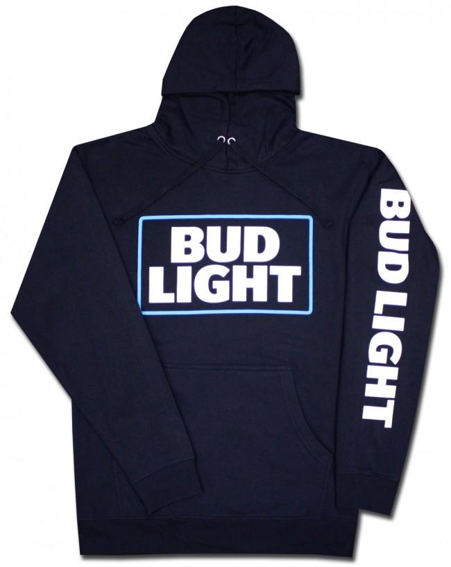 Bud Light Sleeved Hooded Sweatshirt Boozingear Com