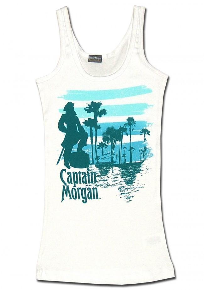 77a7661bb7 Captain Morgan Women s Tank Top   White