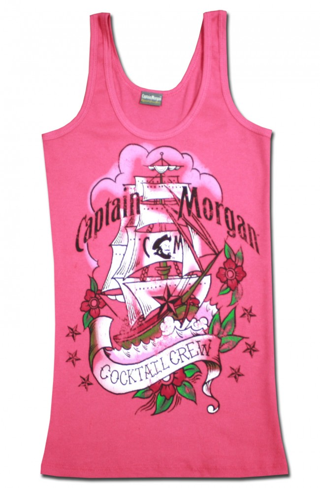 Captain Morgan Cocktail Crew Junior Tank Top Boozingear Com