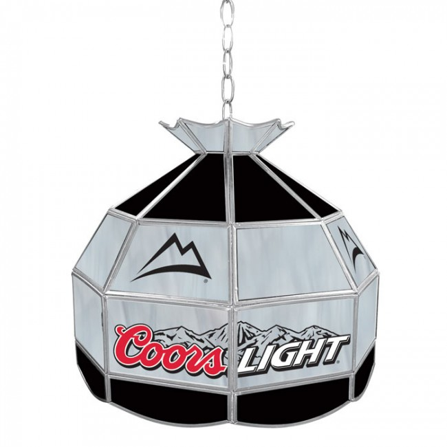 Coors Light Stained Glass Pool Table Light: Coors Light Stained Glass Tiffany Lamp