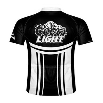 55b0cabcb Coors Light Beer Cycling Jersey   Black N  White