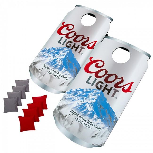 Coors Light Beer Can Cornhole Board Set Boozingear Com