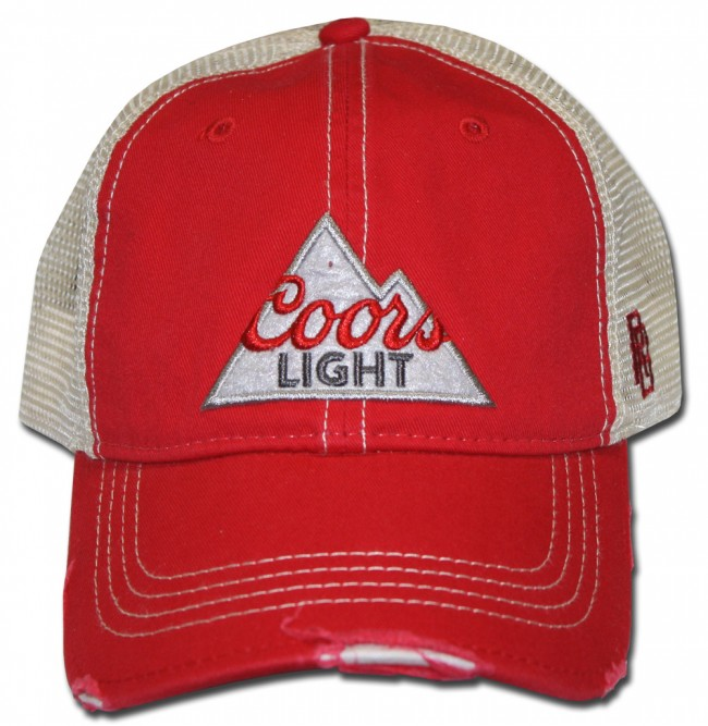c605dce3a1fbba Home; Coors Light Red Ripped Retro Hat. Front. Zoom · Front · Center