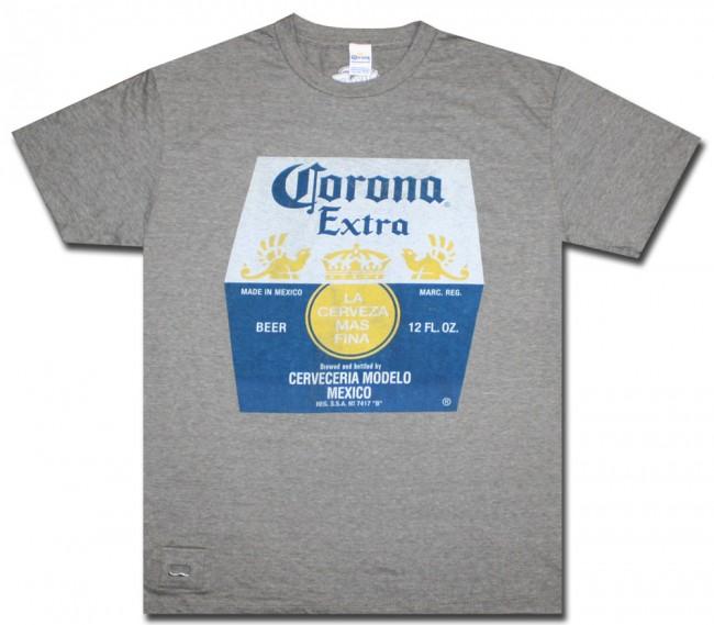 Corona Extra Label Bottle Opener T Shirt Boozingear Com