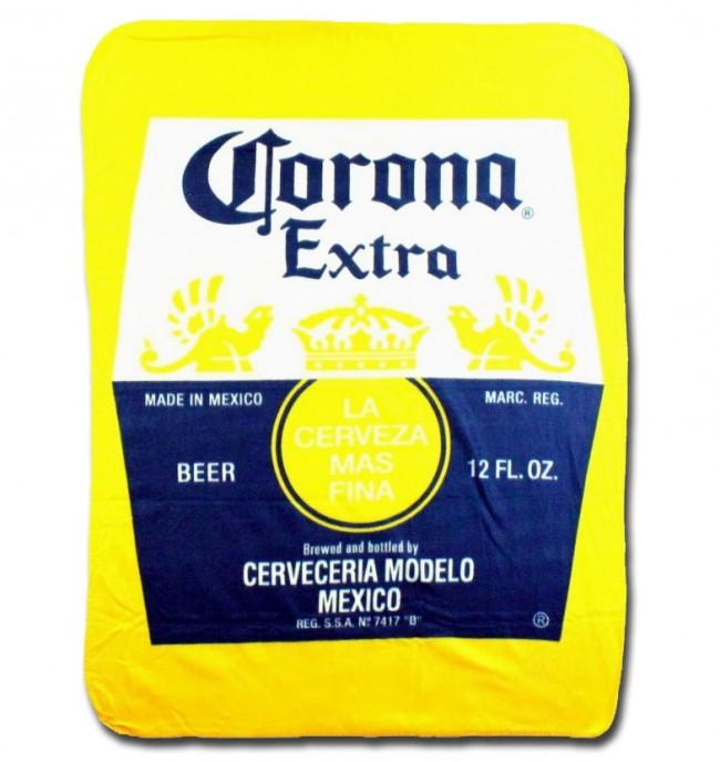 Corona Extra Label Fleece Blanket Boozingear Com