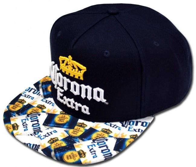 Corona Extra Beer Cans Flatbill Hat Boozingear Com