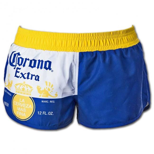5a396e00dcfb2 Corona Extra Label Ladies Swim Shorts | BoozinGear.com