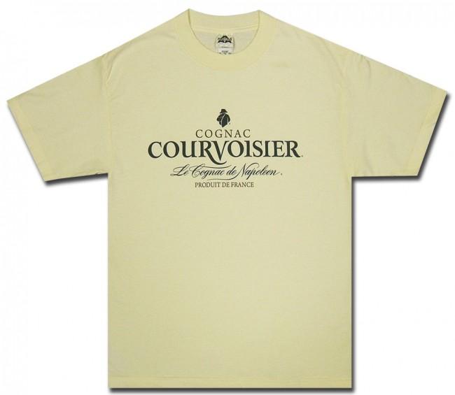 Courvoisier Cognac T Shirt Cream Logo Shirt Officially