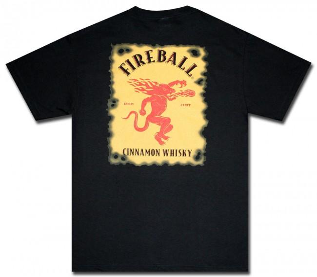 Fireball Whisky T-Shirt : Black Logo | Officially Licensed Fireball ...