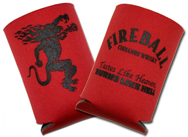 Fireball Whisky Koozies Collapsible Coolie Set