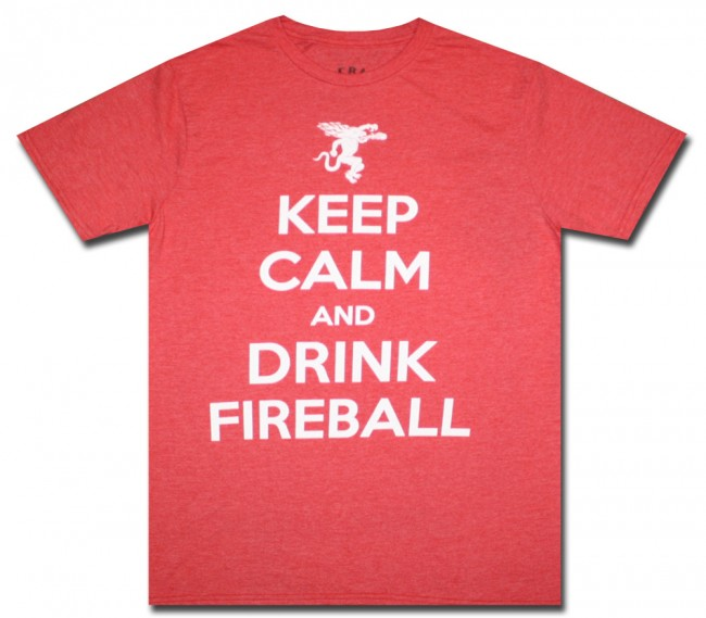 Fireball Whisky Keep Calm T Shirt Boozingear Com