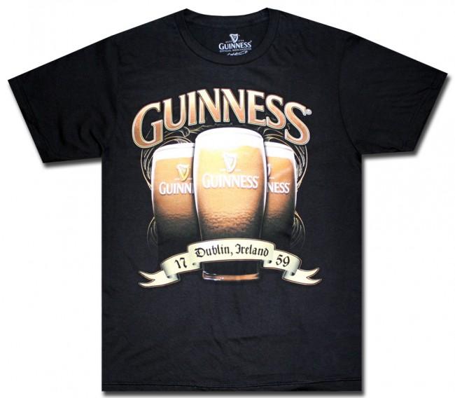 Guinness Triple Pint Glass T Shirt