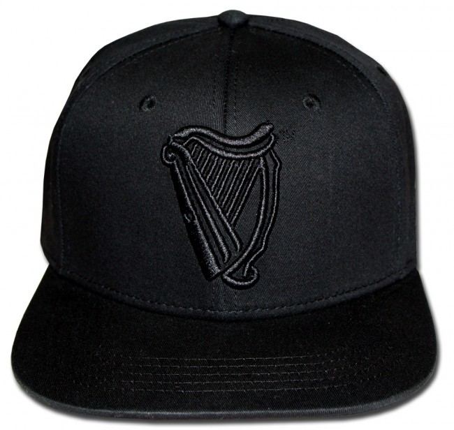05cf46c6438be Home  Guinness Black Harp Flat Brim Hat. Front. Zoom · Front · Center