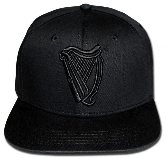 Guinness Black Harp Flat Brim Hat Boozingear Com