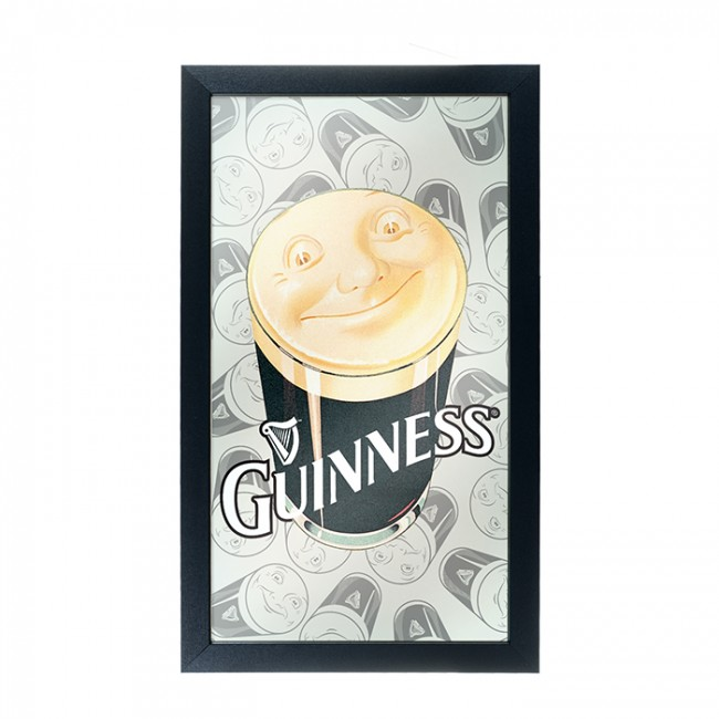 Guinness Smiling Pint Ad Bar Mirror Boozingear Com