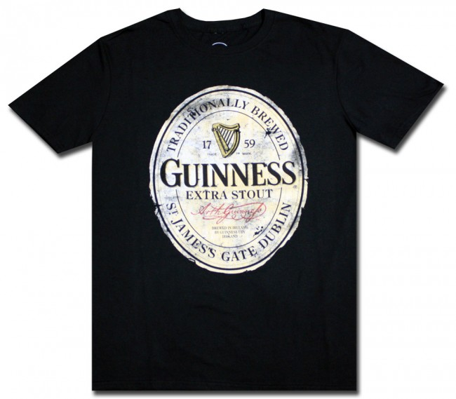 Big Amp Tall Guinness Traditional Distressed T Shirt
