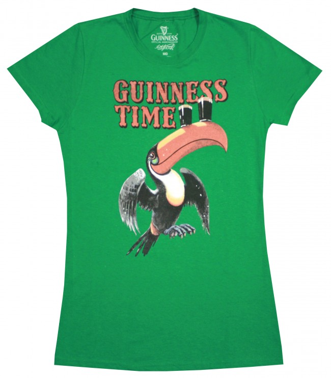 Guinness Green Toucan Juniors Shirt Boozingear Com