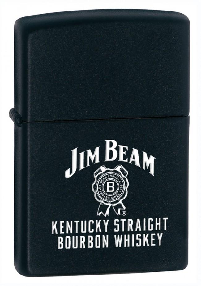 Jim Beam Zippo Black Matte Label Officially Licensed