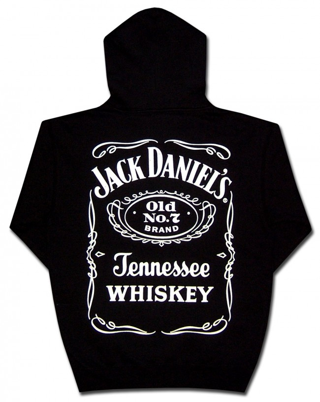 jack daniel 39 s saloon logo hooded sweatshirt. Black Bedroom Furniture Sets. Home Design Ideas