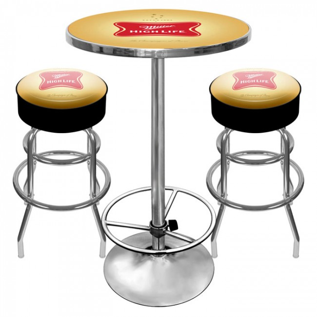 Miller High Life Bar Stools U0026 Table Set