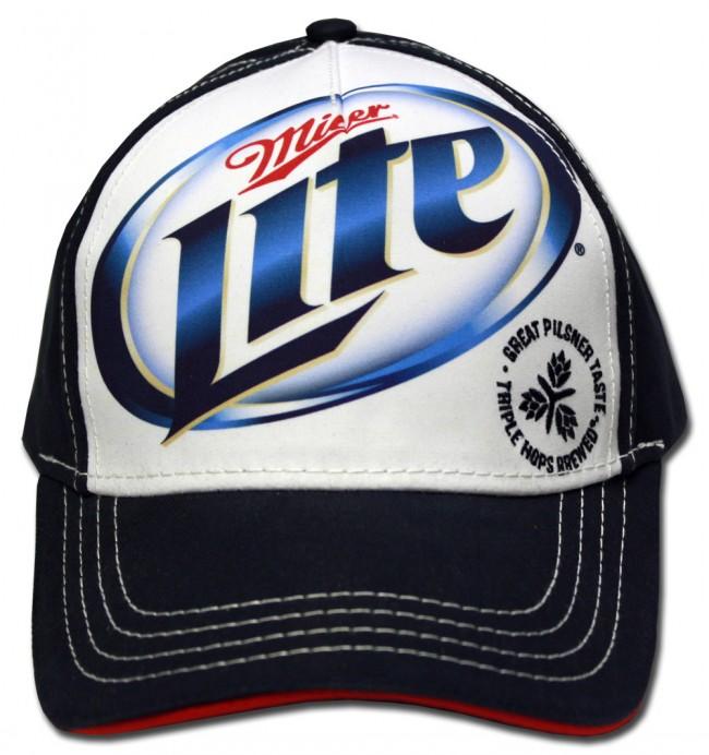 Miller Lite Plastered Hat Boozingear Com
