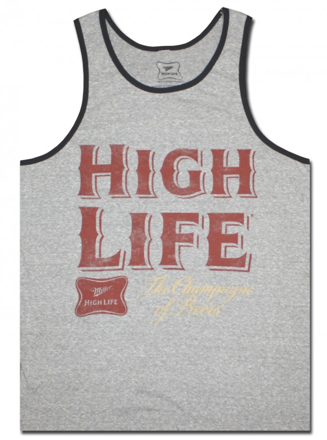 Miller High Life Grey Tank Top