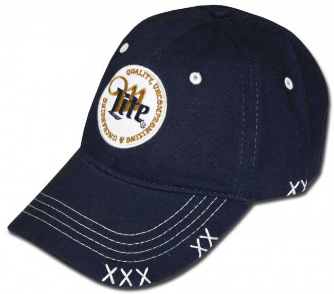 Home  Miller Lite Stamped Patch Hat. Front 57a957e102ef