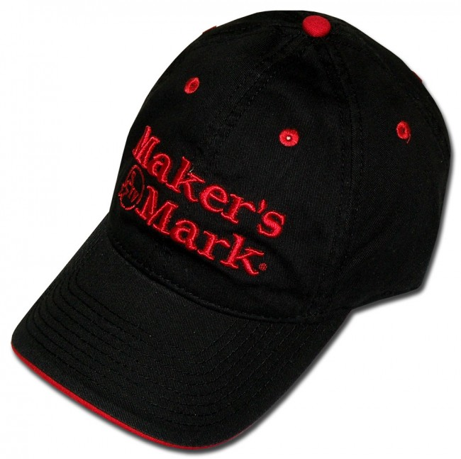 Home  Maker s Mark Hat   Black Logo. Front 9347e55b0f9
