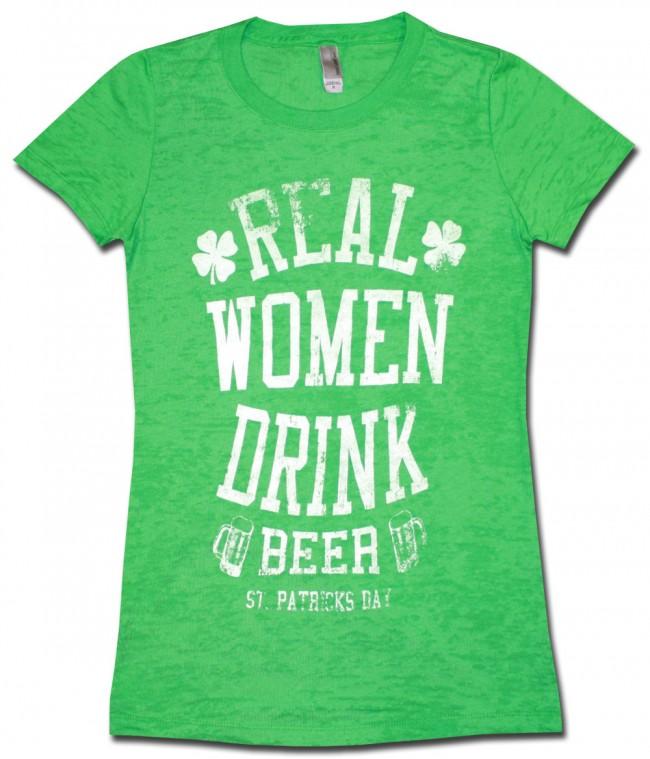 Real Women Drink Beer Babydoll Shirt