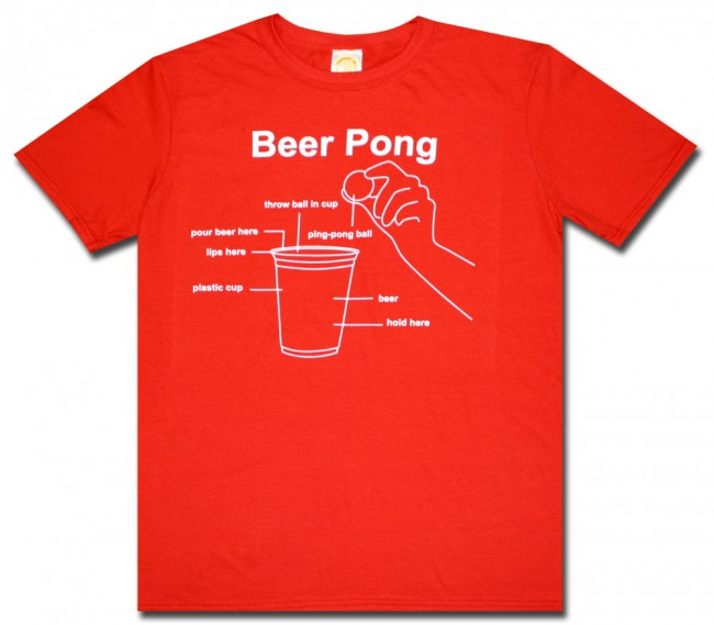 Beer Pong Instructions T Shirt Boozingear Com