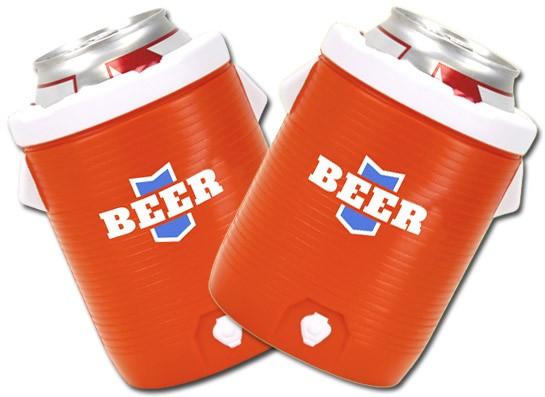 Sports Water Cooler Beer Koozie Set Boozingear Com