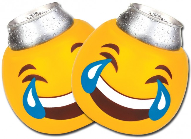 Tears of Joy Emoji Can Coozie Set