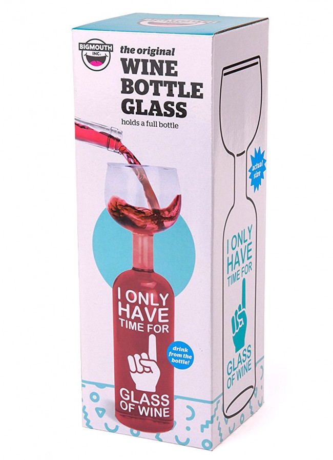 Wine Bottle Glass Time For One Glass Boozingear Com