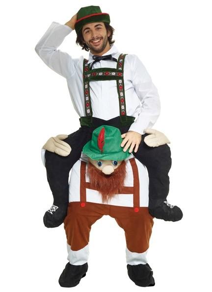 Bavarian Lederhosen Piggyback Costume  sc 1 st  BoozinGear.com & Bavarian Lederhosen Piggyback Costume