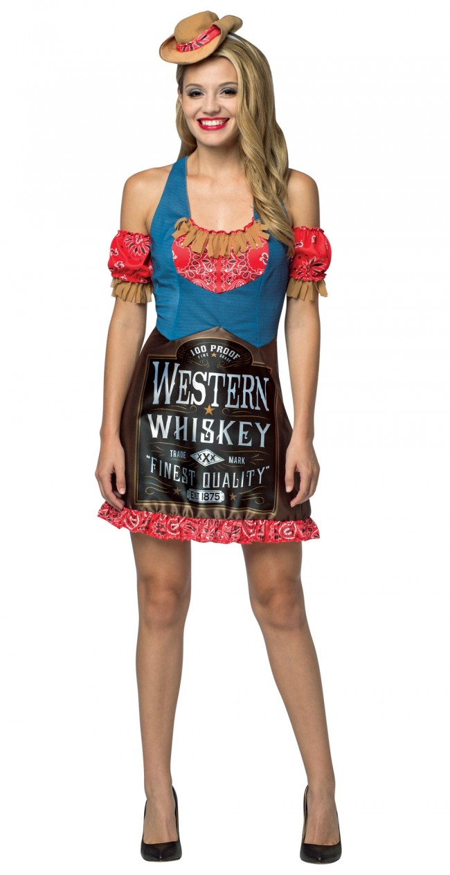 Western Whiskey Dress Women's Costume
