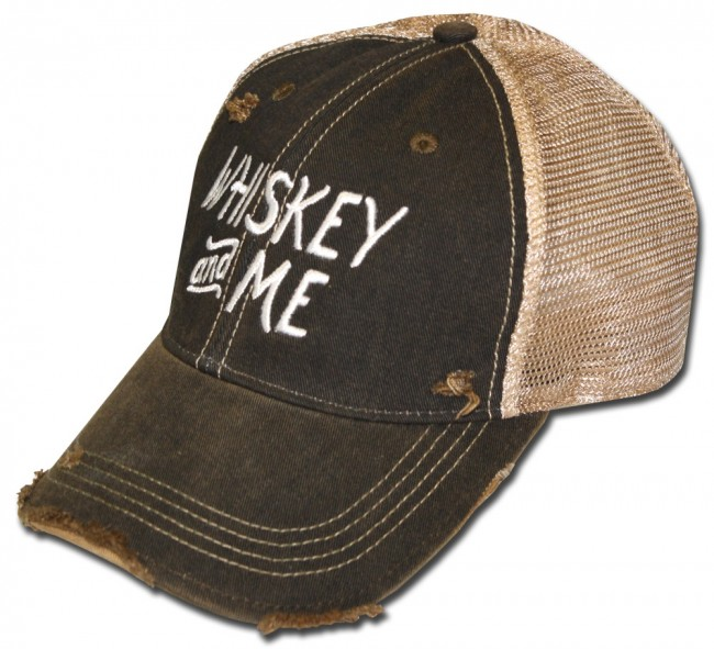 24b7e89397959 Home  Whiskey And Me Ripped Retro Hat. Front