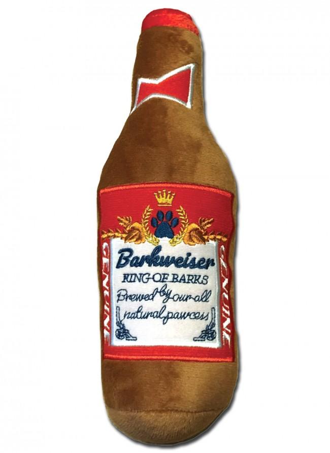 Barkweiser Beer Bottle Plush Dog Toy Boozingear Com
