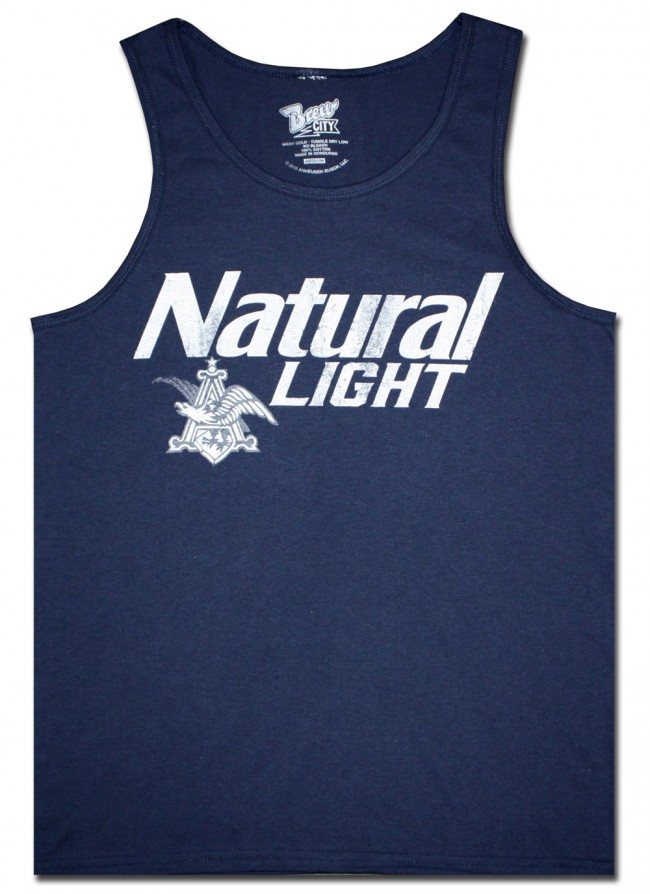 Natural Light Distressed Men S Tank Top Boozingear Com