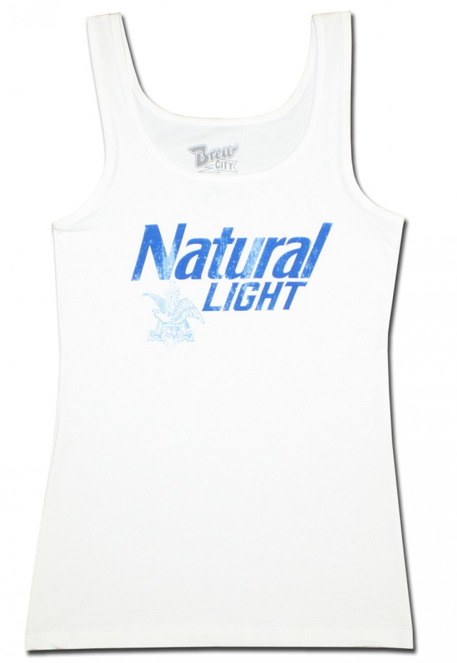 Natural Light Women S Tank Top Boozingear Com