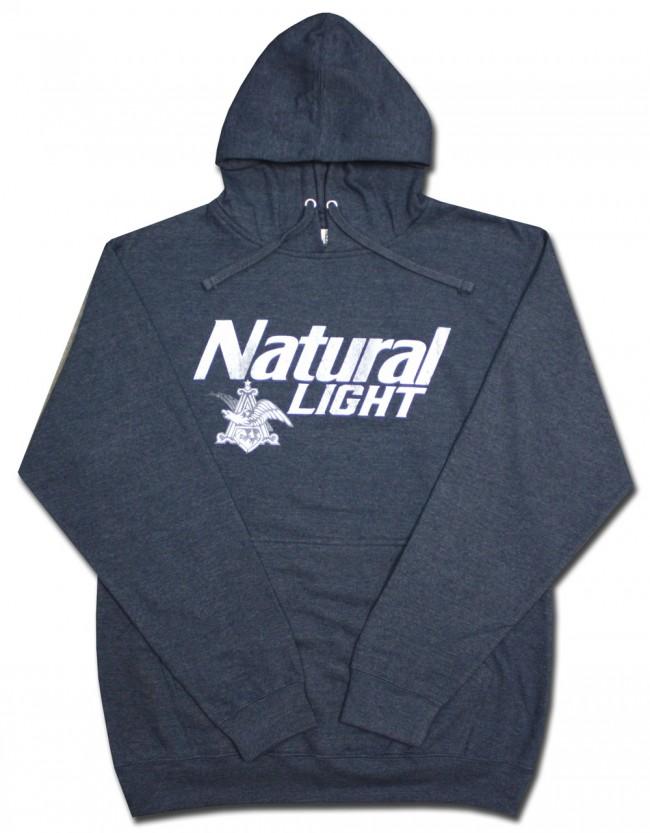Natural Light Navy Hooded Sweatshirt Boozingear Com