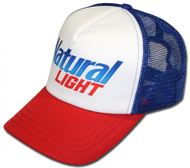 Home  Natural Light Old School Trucker Hat. Front e71343083f73