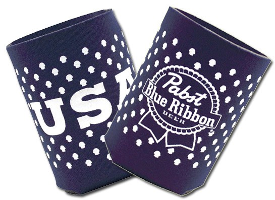 Pabst Blue Ribbon Usa Collapsible Koozie Set Boozingear Com