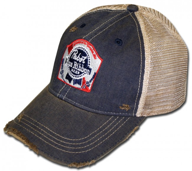02d8a9d41 Pabst Blue Ribbon Washed Retro Hat