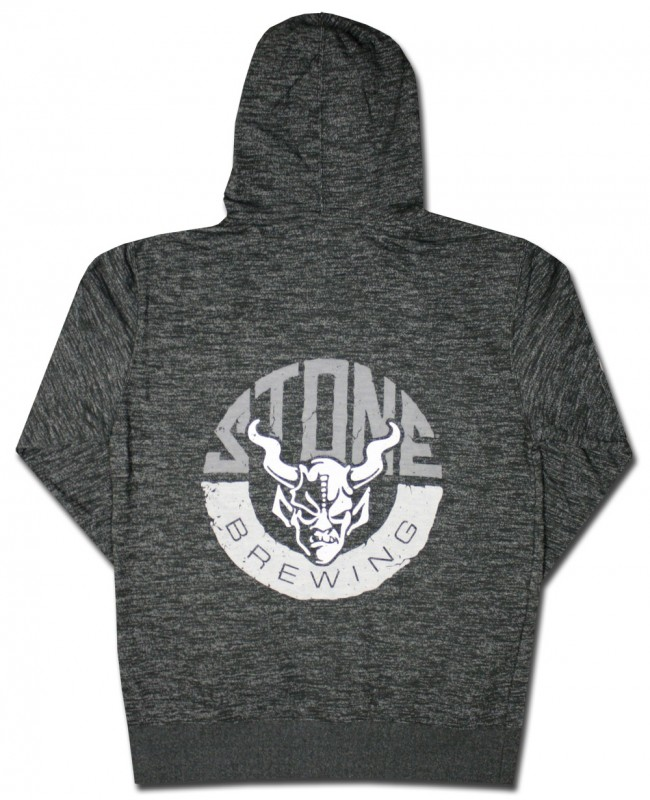 Stone Brewing Rock Zip Hooded Sweatshirt Boozingear Com