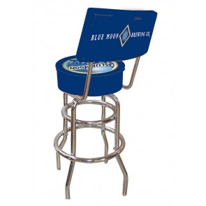 Blue Moon Classic Logo Bar Stool w/ Backrest