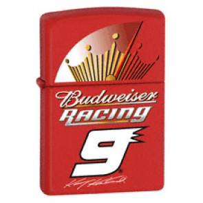 Budweiser Red Racing Zippo