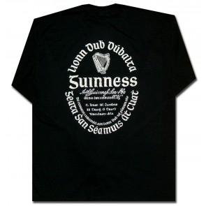 a30e51f4c1a144 Guinness Irish Label Long Sleeve Shirt