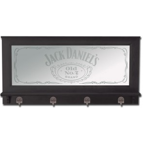 Jack Daniels Bar Mirror : Pewter Hooks